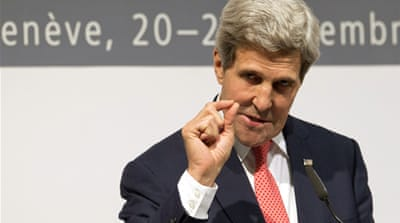 US Secretary of State John Kerry said banking and oil sanctions on Iran will remain in place [Reuters]