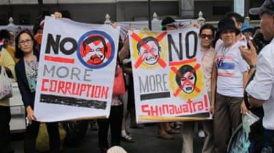 Protesting against Thailand's Big Brother