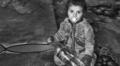 In pictures: Syrian refugees left in the cold