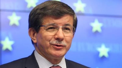 Ahmet Davutoglu said Turkey would not pay to a country it did not formally recognise