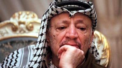 Swiss scientists found at least 18 times the normal levels of polonium-210 in Arafat's remains [Al Jazeera]