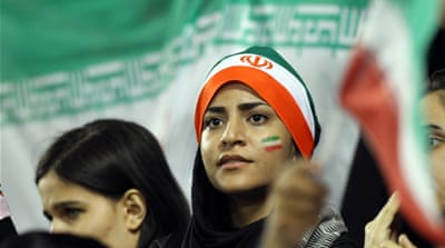 "Iranian authorities said it was ""not in the public interest"" for men and women to attend sporting event together [AP"