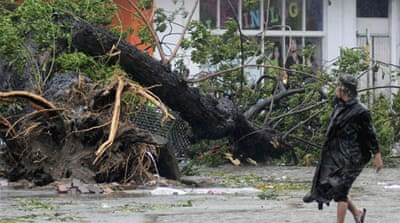 Pictures: Typhoon aftermath