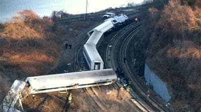 Four dead after New York train derails