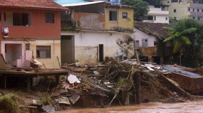 Over 70 houses were destroyed and around 200 people had to seek shelter in eastern Brazil  [Getty Images]