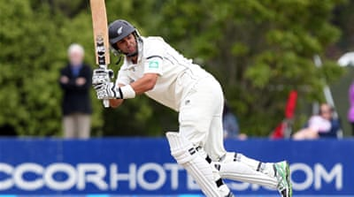 New Zealand captain Ross Taylor scored 129 on the opening day after he was dropped on 0 [Getty Images]