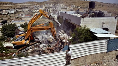 Israel's demolition of homes in the occupied West Bank targets Palestinian families, the UN says [File: AP]
