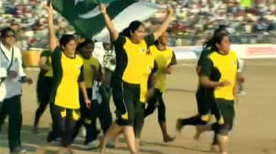 Pakistan debuts women's kabaddi team