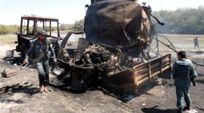 The airstrike on September 4, 2009 near Kunduz killed more than 100 Afghans [Wahdat Afghan/Reuters]