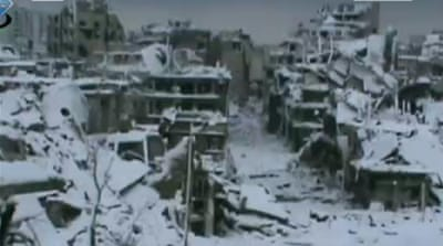 Snow storms delay aid to Syria