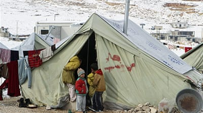 Syria's refugees battle bitter winter