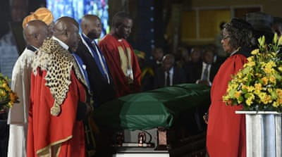 South Africa's ANC bids farewell to Mandela