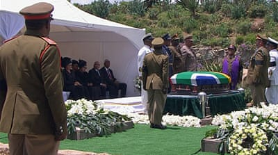 Mandela buried in his ancestral village