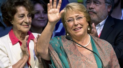 Bachelet storms to election victory in Chile