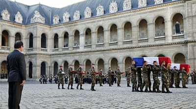 Paris service held for soldiers killed in CAR