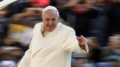 Pope Francis has had positive reactions for his informal approach [Reuters]