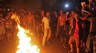 Football fans riot in Myanmar at Asian Games