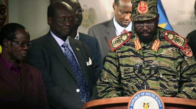 South Sudan's President Salva Kiir donned military attire while addressing the country [Reuters]