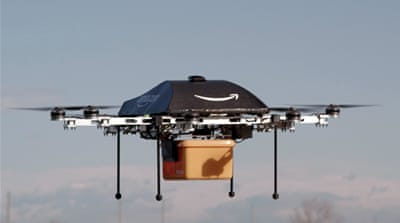 Amazon unveils mini-drone delivery system