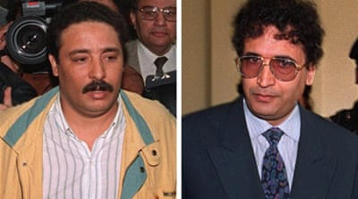 Libyans Al-Amin Khalifa Fhimah (L) and Abdel Basset Ali Megrahi (R) were accused of planning the Lockerbie bombing, but only Megrahi was convicted leading some analysts to question the investigation [AFP]