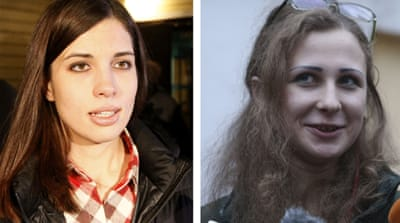Freed Pussy Riot pair ramp up Putin protests