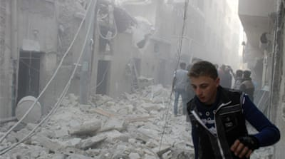 Rights groups say airstrikes have hit residential and shopping areas in Aleppo since December 16  [Reuters]