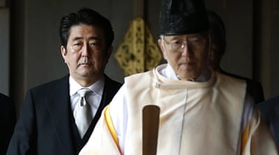 South Koreans protested after Abe's visit to the shrine [AP]