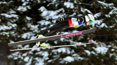 Sara Takanashi has won all three World Cup ski jumping events this season [EPA]