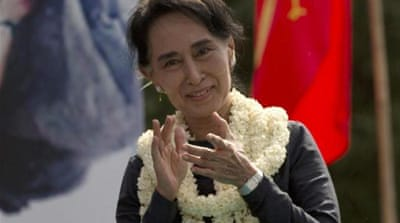 Myanmar opposition leader Aung San Suu Kyi may not be eligible to run for president in 2015 [AP]