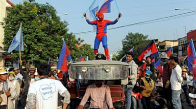 In Pictures: Cambodians take to the streets