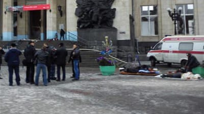 Deadly blast hits Russian train station