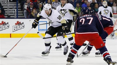Pittsburgh Penguins left wing James Neal  en route to a hat-trick against Columbus Blue Jackets [Reuters]