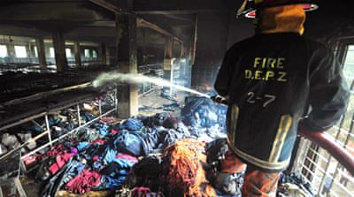Police have said this is possibly the first time owners have been charged over a factory fire in Bangladesh [AP]