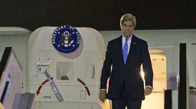 Kerry will meet Palestinian President Mahmoud Abbas later on Thursday [AP]