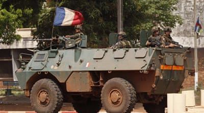 More French troops arrived in the Central African Republic on Friday [Reuters]