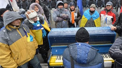 Fresh demonstrations held in Ukraine