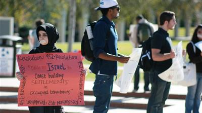 The Students for Justice in Palestine (SJP) is a growing movement on US campuses [Scott Denny/Flickr]