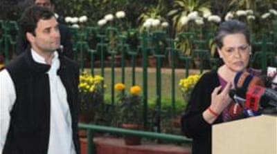 Both Sonia Gandhi (right) and Rahul said lessons would be learnt from this month's election results [EPA]