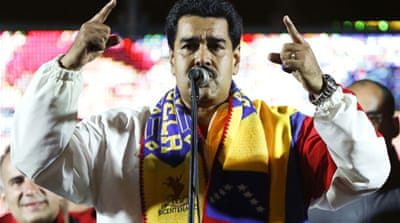 Maduro won nearly 50 percent overall vote with his quest to preserve Chavez's socialist legacy [Reuters]