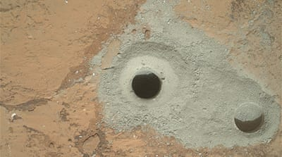 The drilling and analysis is part of NASA's Mars Science Laboratory Project [Reuters/NASA]