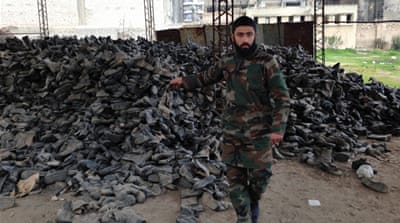Syrian rebels took over a military clothing factory in Aleppo after a battle last July [Basma Atassi/Al Jazeera]