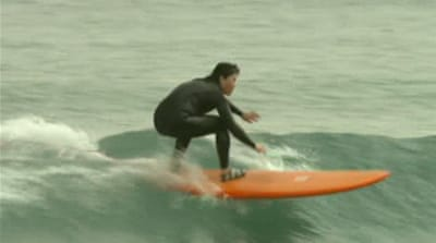Surf's up in S Korea despite gnarly weather
