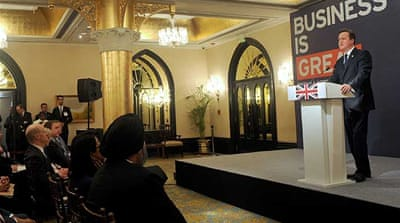 Cameron told Indian business leaders in Mumbai that 'Britain wants to be your partner of choice' [AFP]