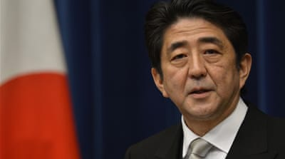 "Abe Shinzo acknowledged that  ""comfort women"" existed but denied they were coerced into prostitution [File: AFP]"