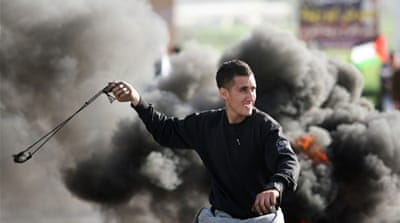 Israeli security forces clashed with protesters near the West Bank city of Jenin [AFP]