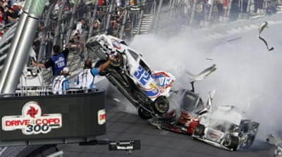 In Pictures: NASCAR crash