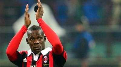Never far from the action: Former Inter player Balotelli recently signed for the AC Milan after a controversial stint at English club Manchester City [AFP]