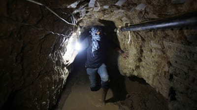 Egyptian forces flooded some of the tunnels with sewage earlier this month [Reuters]