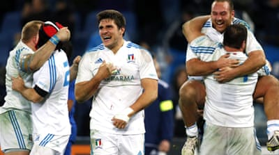 Italy join England and Ireland on two points after the first round of games and sit in third place [Reuters]