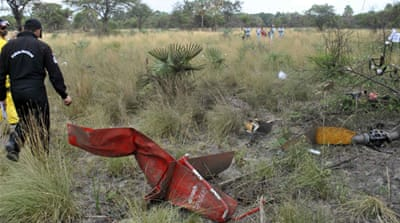 Paraguayan presidential candidate Lino Oviedo (C) was on his campaign trial before his fatal accident [Reuters]